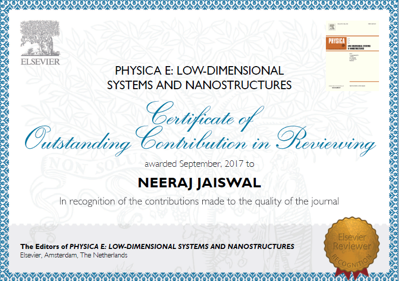 Outstanding Reviewer Contribution_Physica E