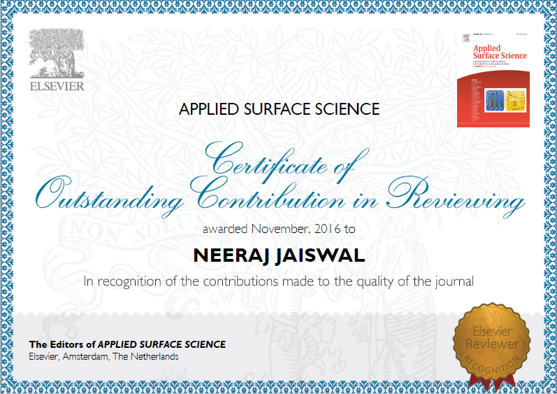Outstanding Reviewer Contribution_Applied Surface Science